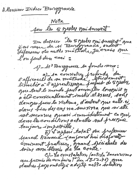 lettre de demande de formation en secourisme